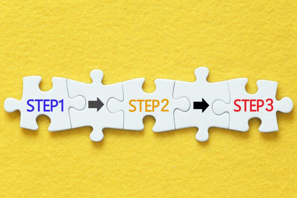 3ステップのイメージ