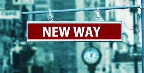 NEW WAYという看板